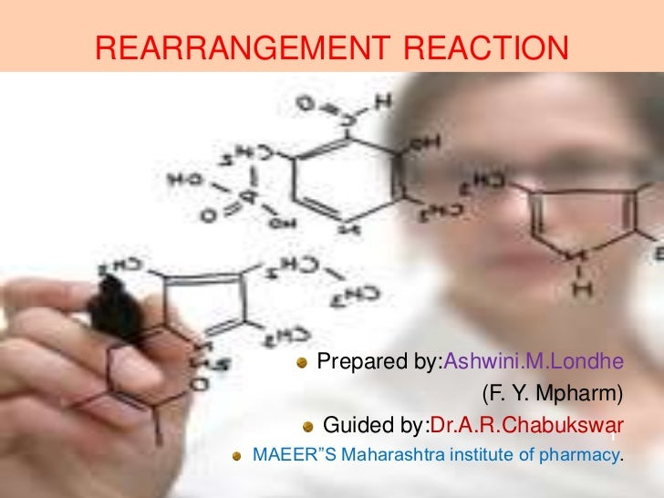 REARRANGEMENT REACTION              Prepared by:Ashwini.M.Londhe                             (F. Y. Mpharm)              G...