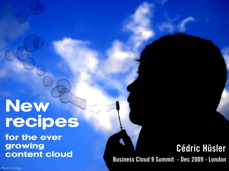 New recipes for the ever growing content cloud