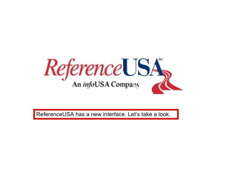 New RefernceUSA