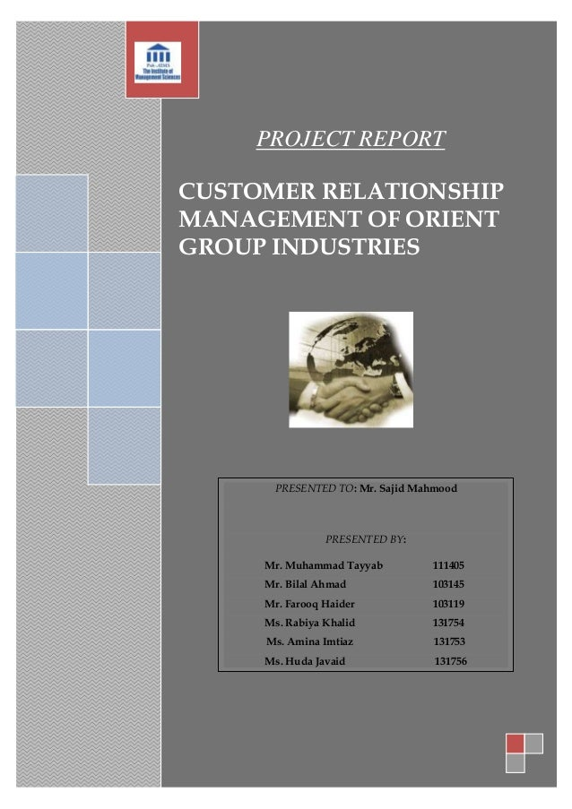 Orient Customer Relationship Management Project Report
