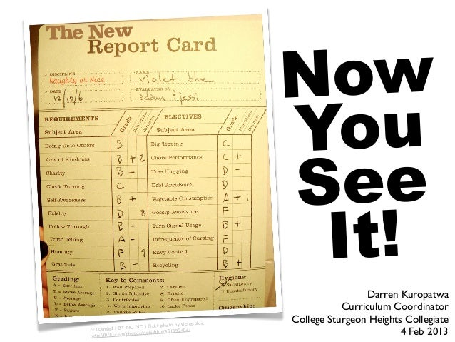 New Report Card: Now You See It