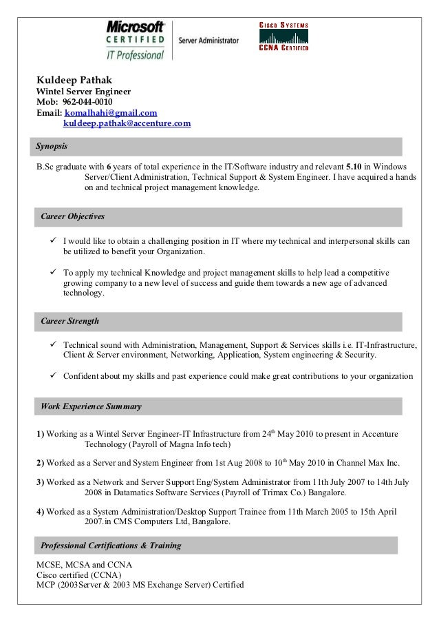 resume for cisco professional - Professional It Resume