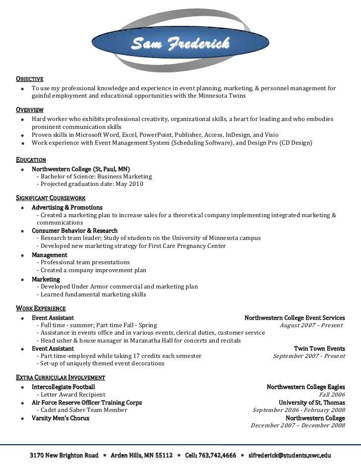 resume letter head