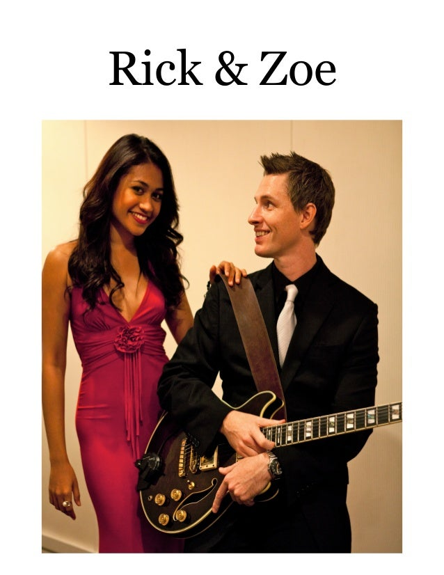 Rick and Zoe Photo, Songlist and Press Release