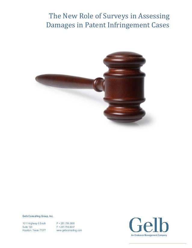 New Role of Surveys in Assessing Damages in Patent Infringement Cases
