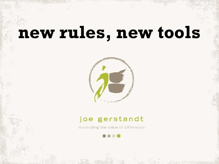 new rules, new tools