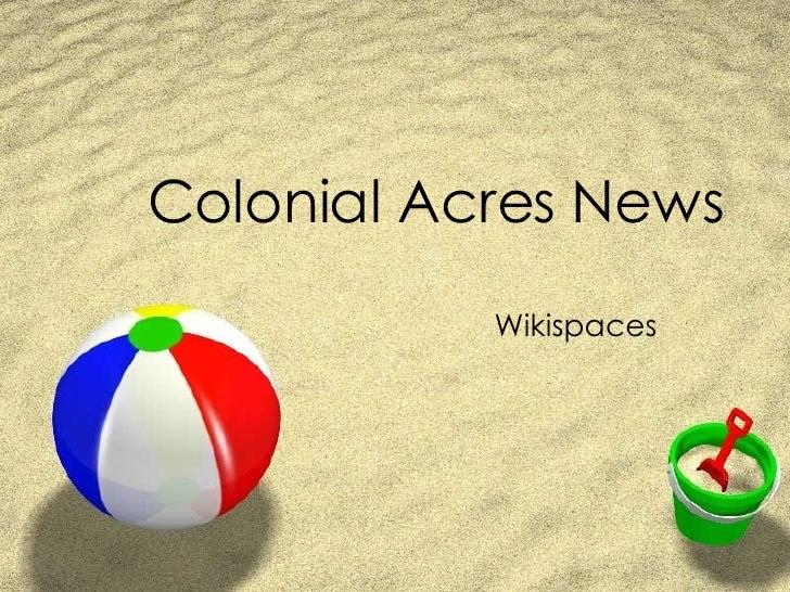 News Wikispaces