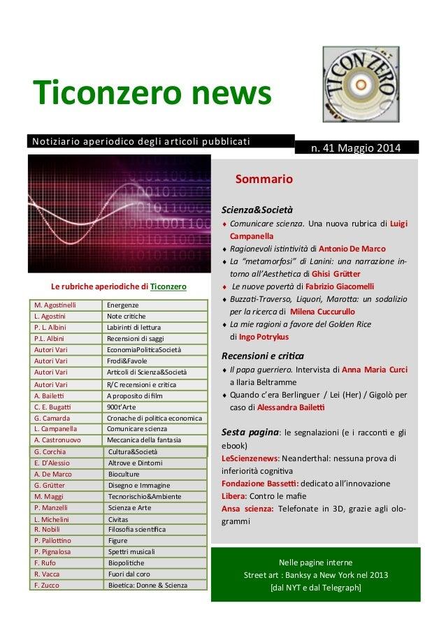 News 41 maggio 2014