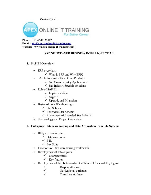Contact Us at:Phone : +91-8500122107Email : raj@apex-online-it-training.comWebsite : www.apex-online-it-training.com      ...