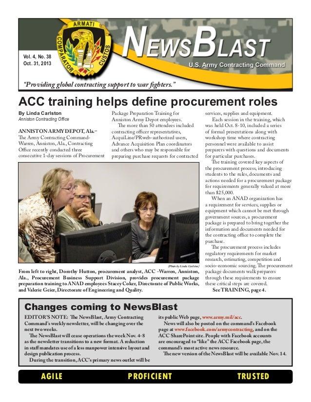 ACC NewsBlast - Oct. 31, 2013
