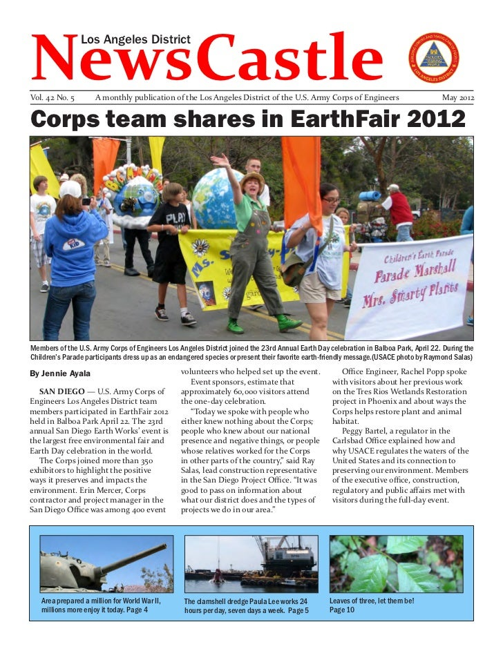 NewsCastle                Los Angeles DistrictVol. 42 No. 5        A monthly publication of the Los Angeles District of th...