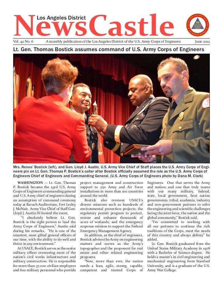 NewsCastle                Los Angeles DistrictVol. 42 No. 6        A monthly publication of the Los Angeles District of th...