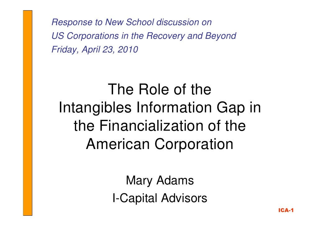 Response to New School discussion on US Corporations in the Recovery and Beyond Friday, April 23, 2010             The Rol...