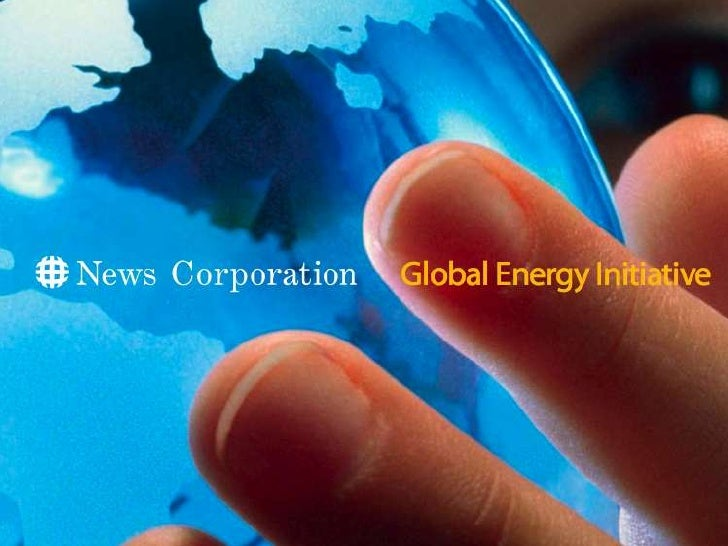 News Corp\'s Global Energy Initiative