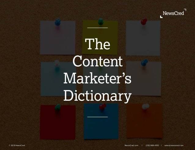 Content marketer dictionary
