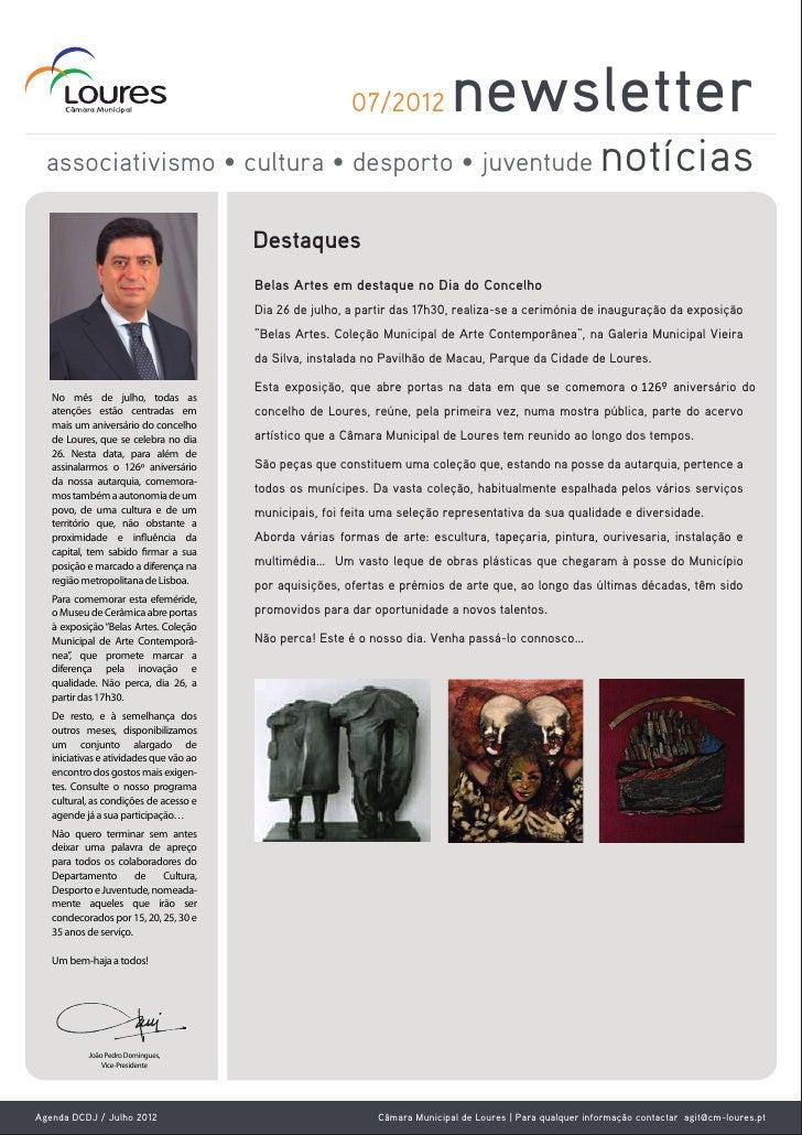 07/2012             newsletter  associativismo • cultura • desporto • juventude                                           ...