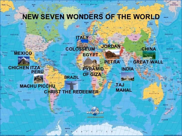 NEW SEVEN WONDERS OF THE WORLD BRAZIL CHINA TAJ MAHAL PERÚ MEXICO INDIA JORDAN ITALY CHICHEN ITZA MACHU PICCHU CHRIST THE ...