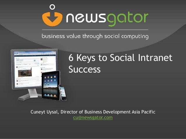 2011 newsgator Cuneyt Uysal 6 Steps to Social SharePoint Intranet