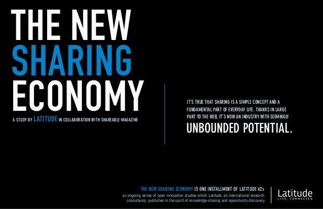 Study: The New Sharing Economy
