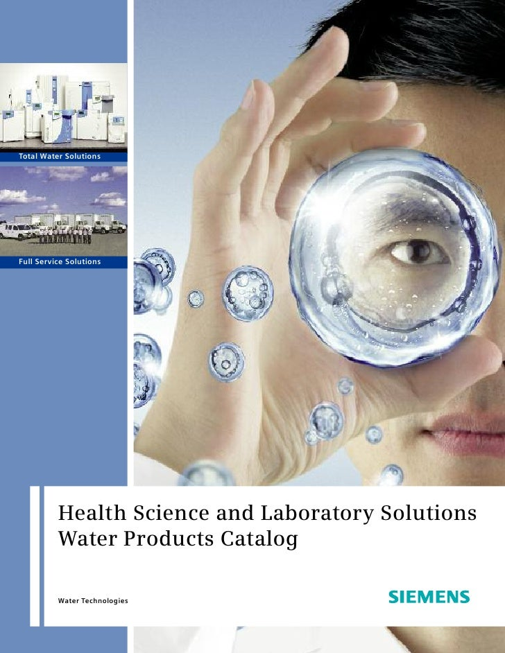 Total Water Solutions     Full Service Solutions               Health Science and Laboratory Solutions           Water Pro...