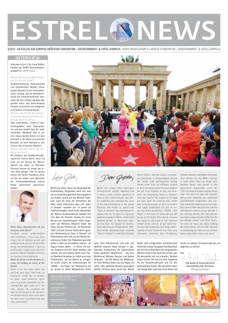 2/2012 · AKTUELLES AUS EUROPAS GRÖSSTEM CONVENTION-, ENTERTAINMENT- & HOTEL-KOMPLEX · NEWS FROM EUROPE´S LARGEST CONVENTIO...