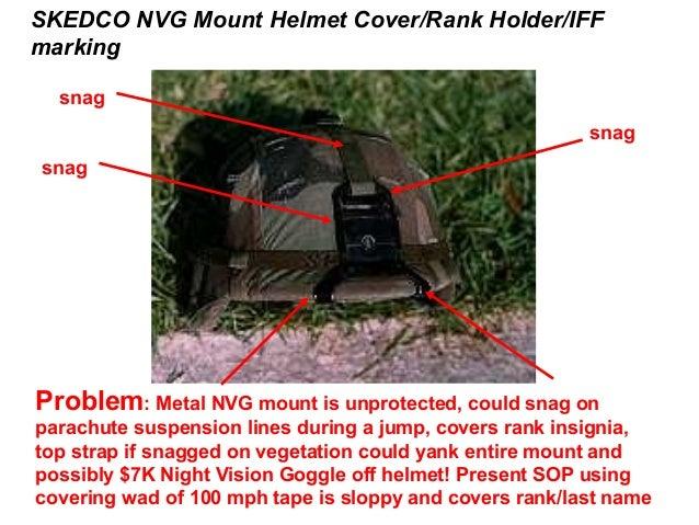 SKEDCO NVG Mount Helmet Cover/Rank Holder/IFFmarking  snag                                                         snagsna...