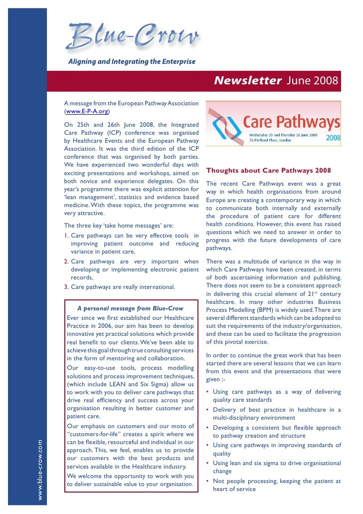 Newsletter June 2008                     A message from the European Pathway Association                     (www.E-P-A.or...