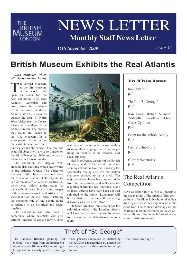 News Letter Example