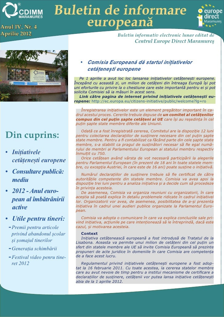 Newsletter ed maramures aprilie 2012