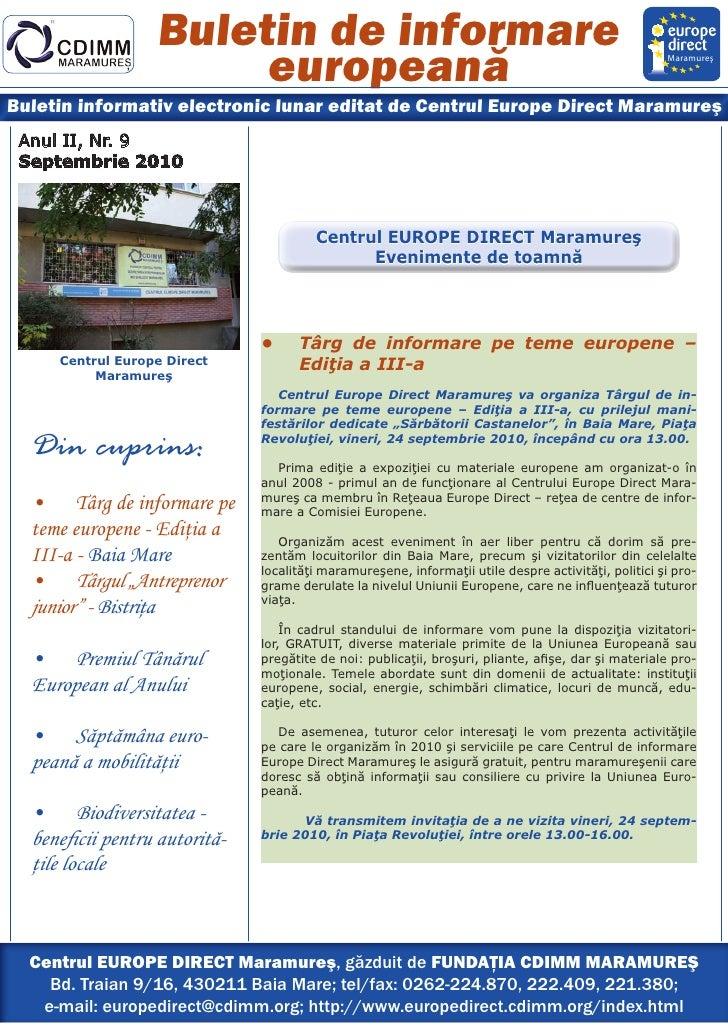 Buletin de informare                        europeană                                                                     ...
