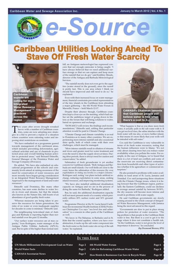 CAWASA Newsletter : 2nd Quarter 2012