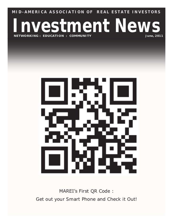 The Investment News:  June 2011 Newsletter for MAREI