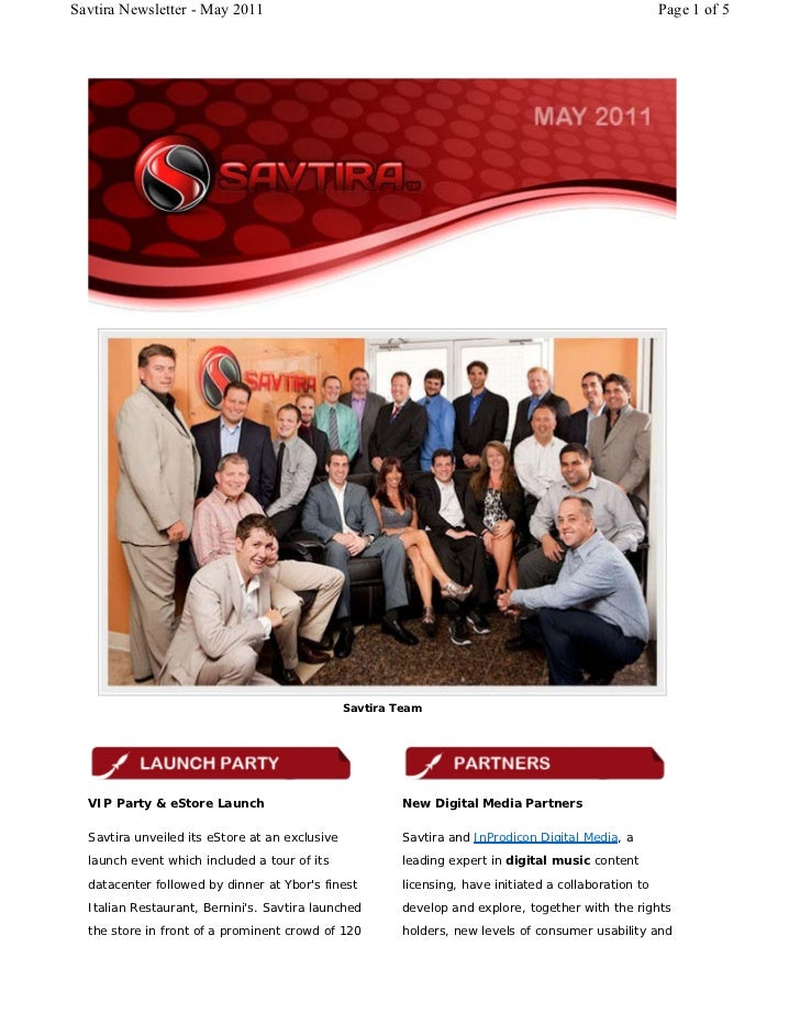 Savtira Newsletter - May 2011                                                                          Page 1 of 5        ...