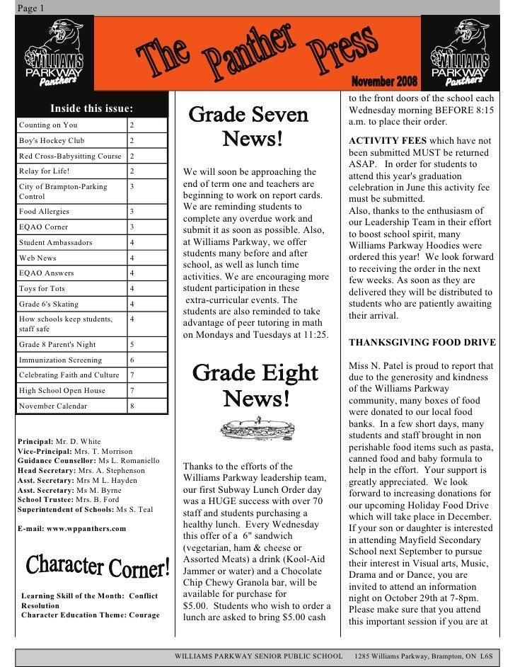 Newsletter  Novemberv2