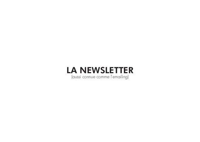 LA NEWSLETTER(aussi connue comme l'emailing)