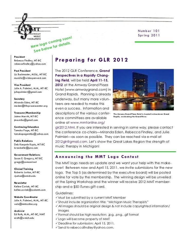 MMT Newsletter - Spring 2011