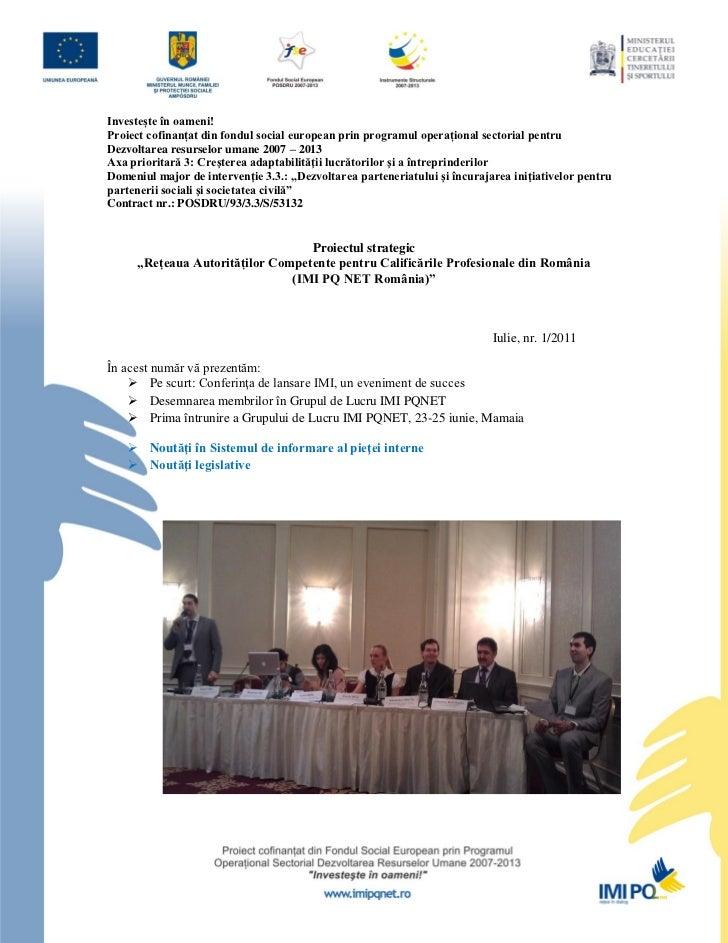 Newsletter 01 imi-net_2011-07