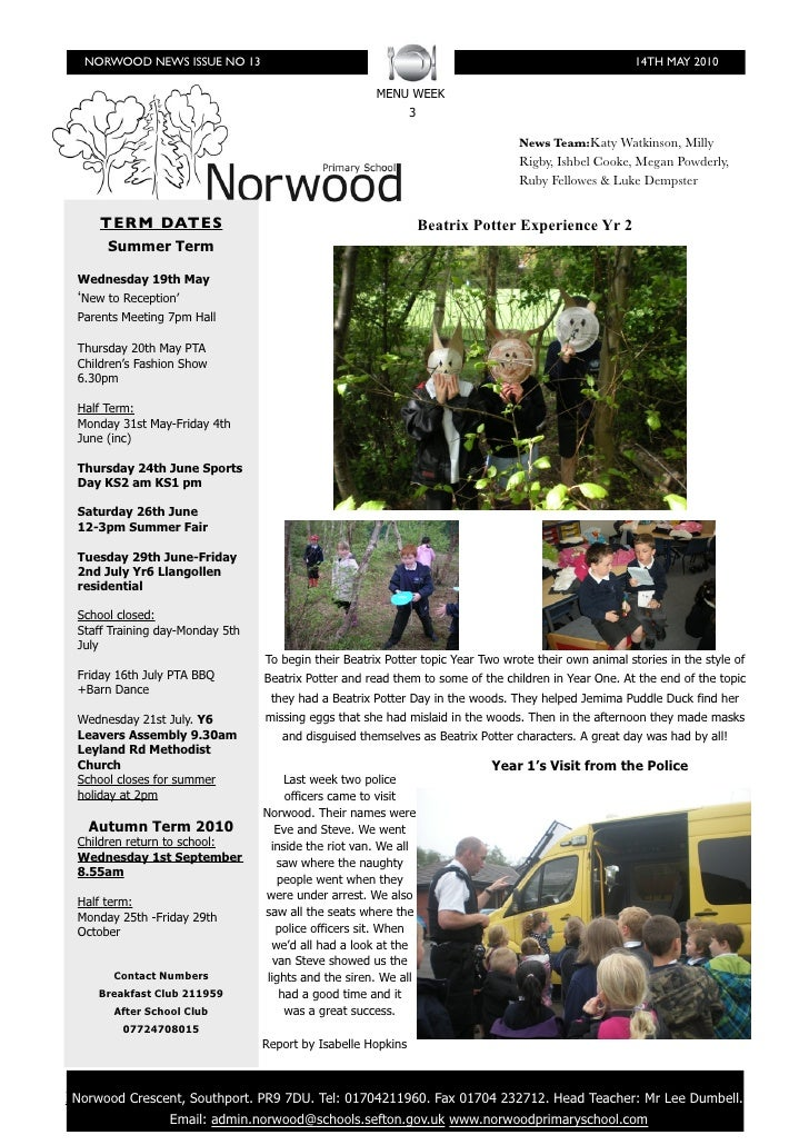 NORWOOD NEWS ISSUE NO 13                                                                             14TH MAY 2010        ...