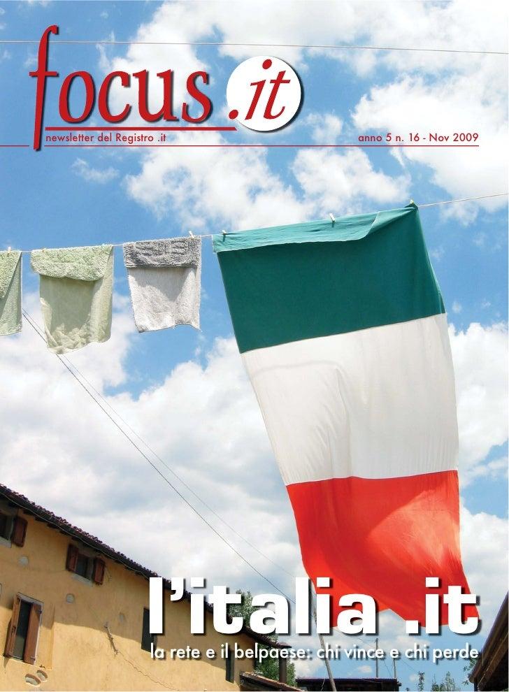 Newsletter del Registro .it anno 5 n. 16 - Nov 2009