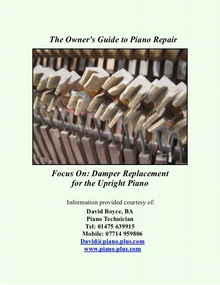 Newsletter 19   upright damper felts