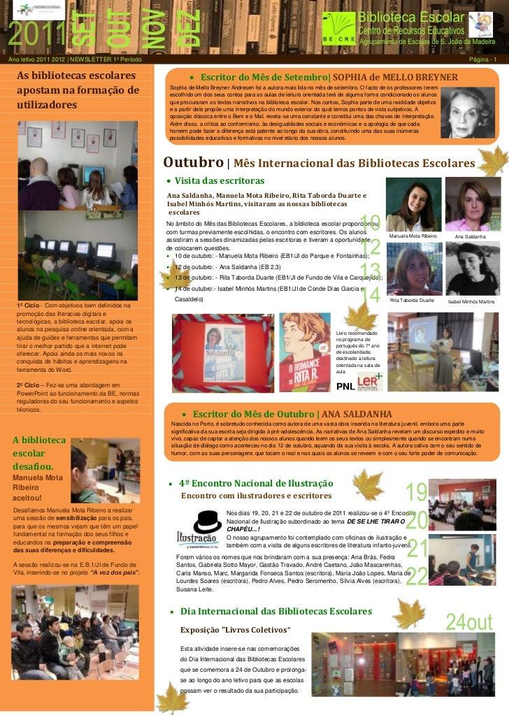 Ano letivo 2011 2012 | NEWSLETTER 1º Período                                                                              ...