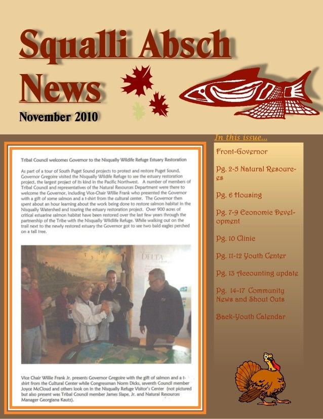 Squalli Absch News November 2010