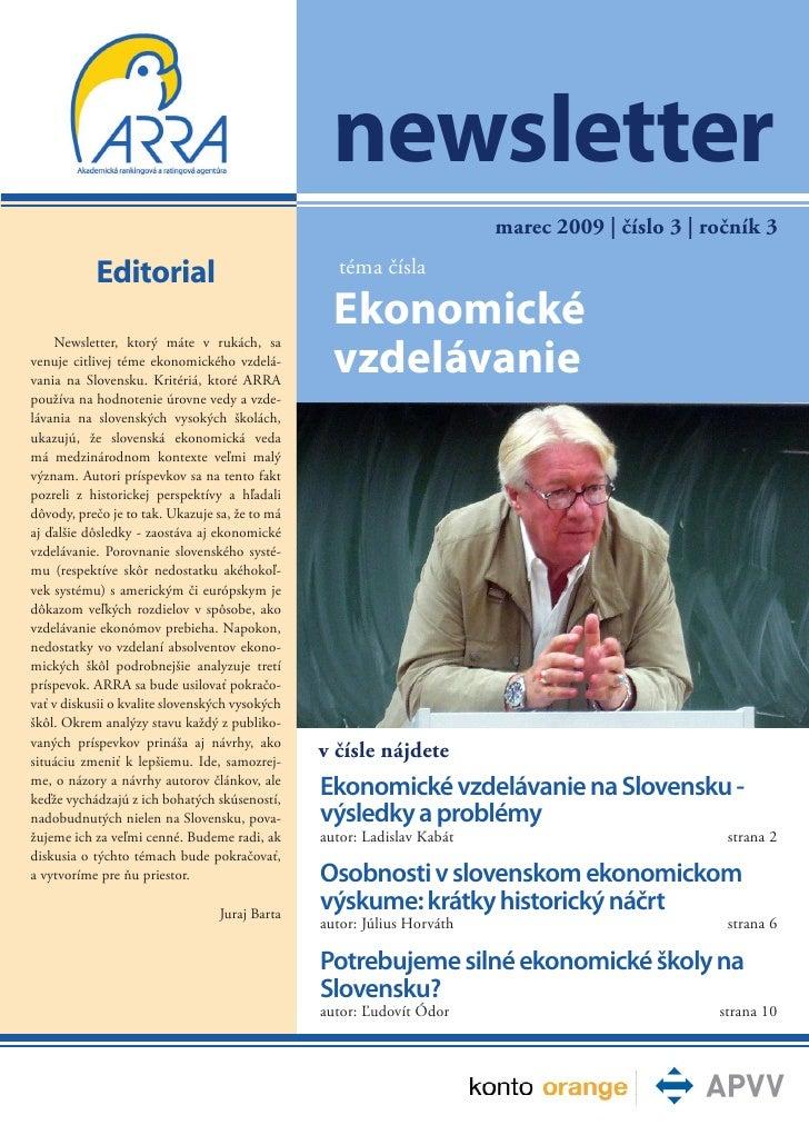 Newsletter 2009 03