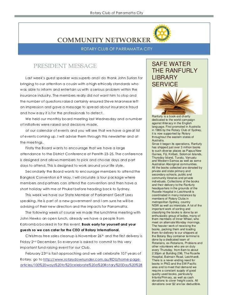 Newsletter  21 11-2011