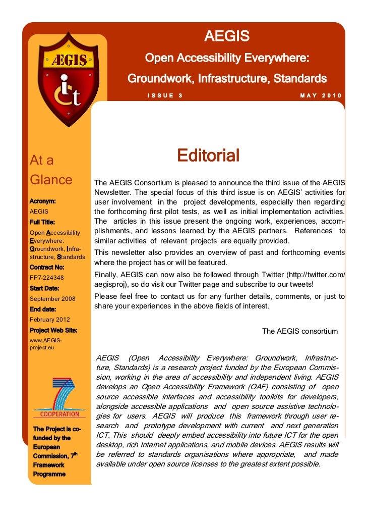 Newsletter 3 AEGIS