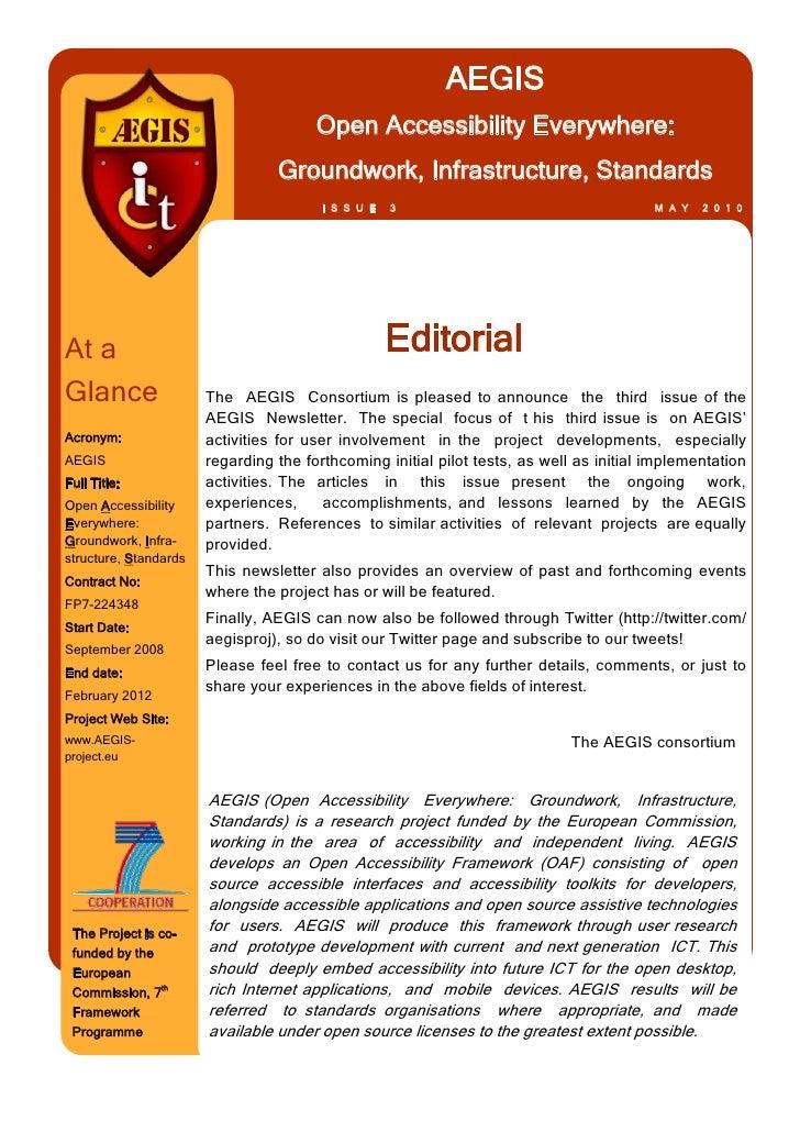 AEGIS Newsletter 3
