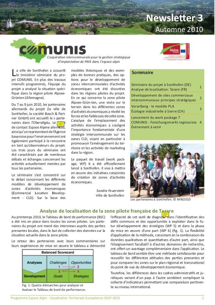 Newsletter 3                                                                                                 Automne 2010 ...