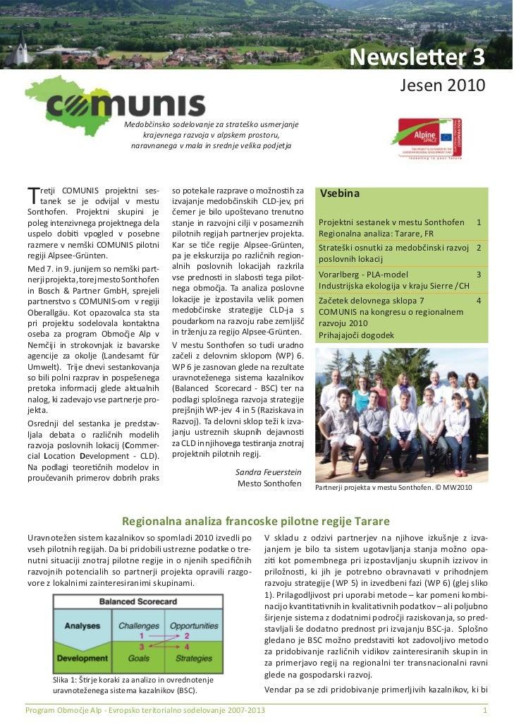 Comunis newsletter 3 Slovenian