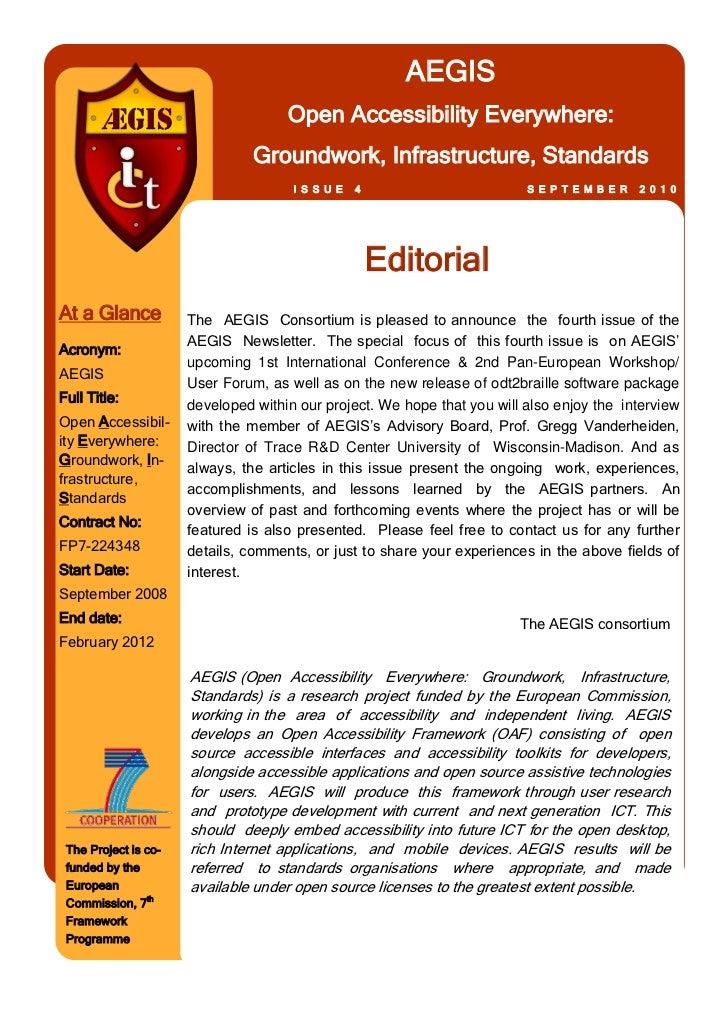AEGIS                                     Open Accessibility Everywhere:                                Groundwork, Infras...