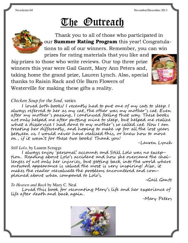 November 2013: Outreach Newsletter